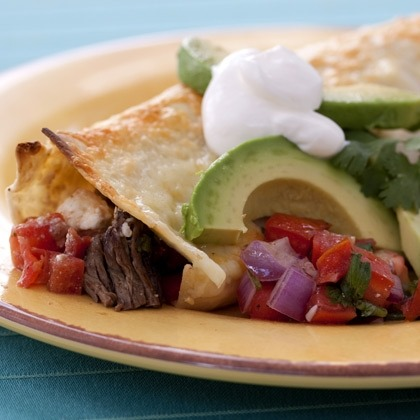 Beef Enchiladas with Tomato Relish