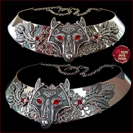 collier loup viking celtique pagan medieval Fenrir Odin