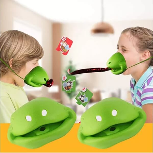 TIC TAC TONGUE Frog Face Board Game
