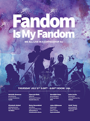 Fandom is my Fandom poster with silhouettes of various tv, book and film characters