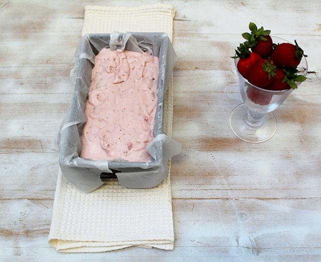 gelado morango caseiro receita