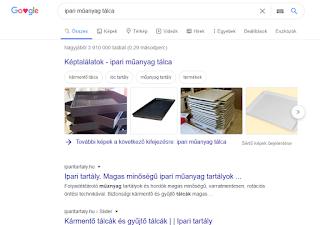 Google - műanyag kármentő tálca