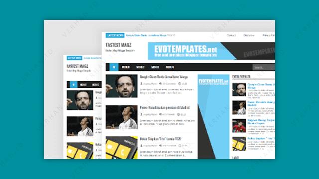 template blogger fastest magz