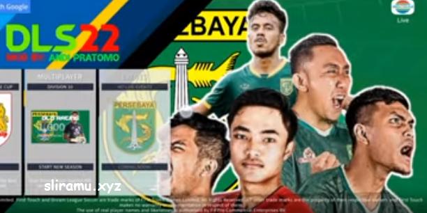 DLS 22 Mod Persebaya Liga 1 Indonesia New Kits & Transfer 2021-2022
