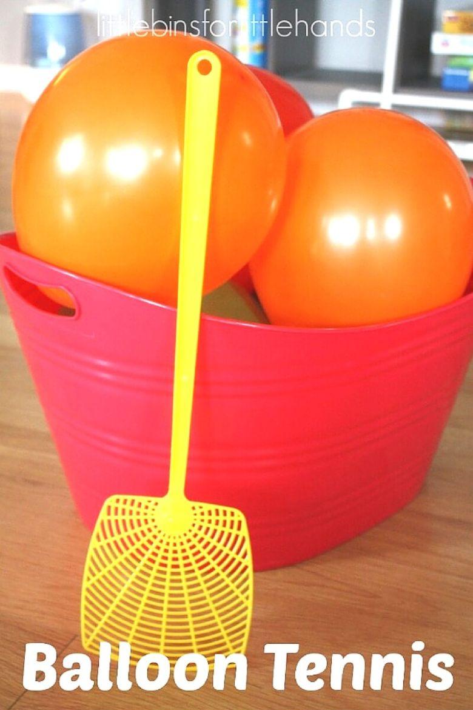 indoor activities for kids -  balloon tennis