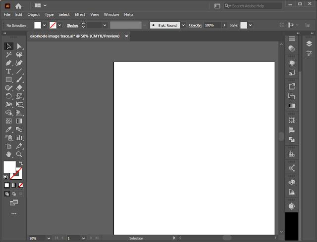 Buka Adobe Illustrator