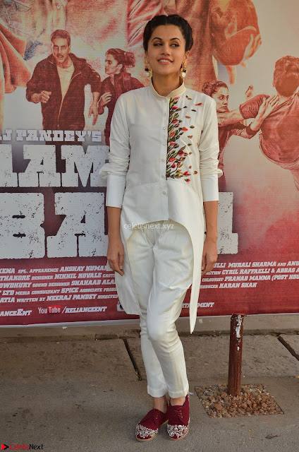 Taapsee Pannu Looks Super Cute in White Kurti and Trouser 03.JPG