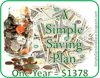 How to save $1378 in one year.