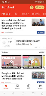 Share And Review Aplikasi BuzzBreak
