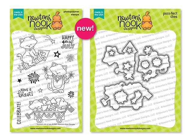 Newton's 4th of July Stamp Set & Die Set by Newton's Nook Designs #newtonsnook