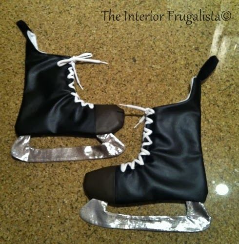 DIY Hockey Skate Stocking View 1