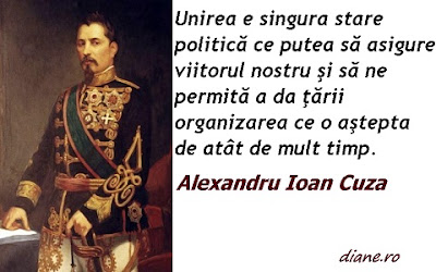 Citat Alexandru Ioan Cuza: Unirea e singură stare politică ce putea să asigure viitorul nostru şi să ne permită a da ţării organizarea ce o aştepta de atât de mult timp.