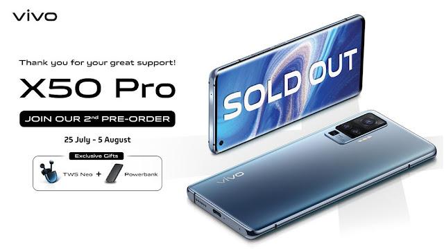 Vivo X50 Tersedia Offline, Vivo X50 Pro Buka Pre-order Kedua