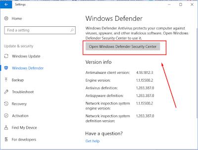 Cara Mematikan Anti Virus Windows 10 dengan mudah