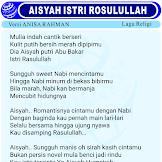 Lirik Lagu Aisyah Istri Rosulullah Versi Anisa Rahman