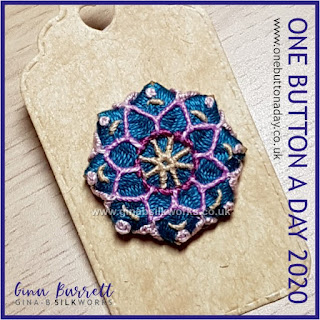 One Button a Day 2020 by Gina Barrett - Day 101: Mandala III
