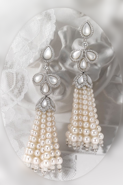 David Morris pearl tassel earrings #brilliantluxury