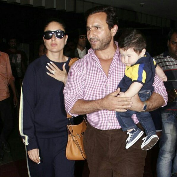 Saif Ali Khan & Kareena Kapoor Snapped at Airport