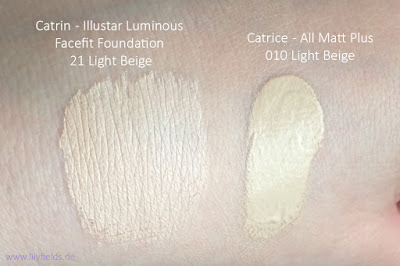 Catrin - Illustar Luminous Facefit Foundation  Swatches