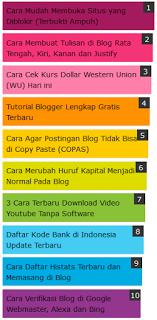 Koleksi Widget Popular Post Paling Keren Berikut 4 Koleksi Widget Popular Post Paling Keren