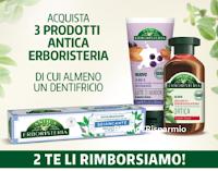 """Antica Erboristeria """"La semplicità che ti ripaga"""" : acquisti 3 prodotti e 2 ti vengono rimborsati"""