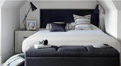 """bentuk kamar tidur asimetri"""