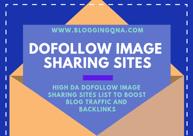 High DA Dofollow Image Sharing Sites List