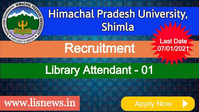 Library Attendant at Himachal Pradesh University