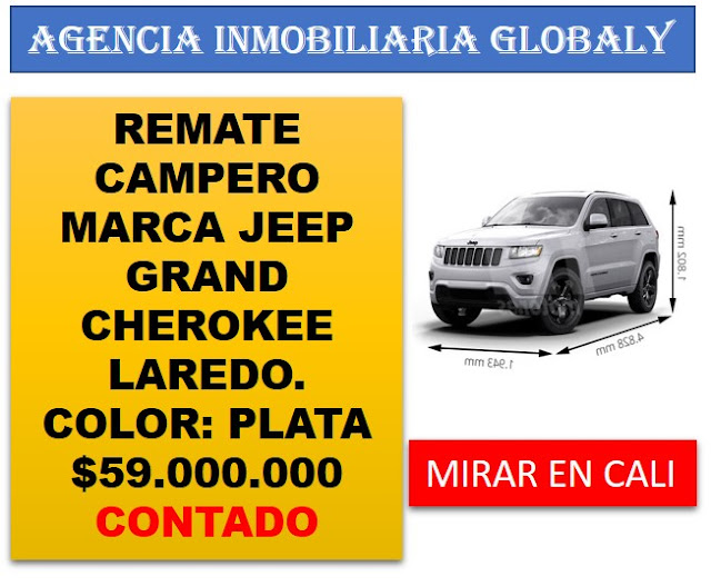 REMATE CAMPERO JEEP GRAND CHEROKEE LAREDO 2015