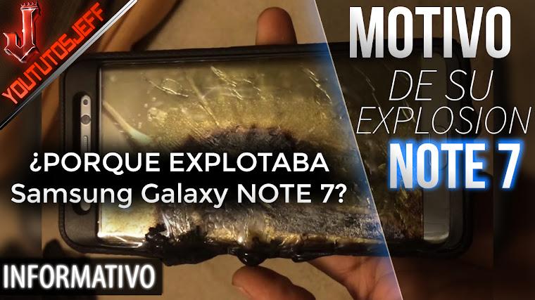 Descubren por que explota el Samsung Galaxy Note 7