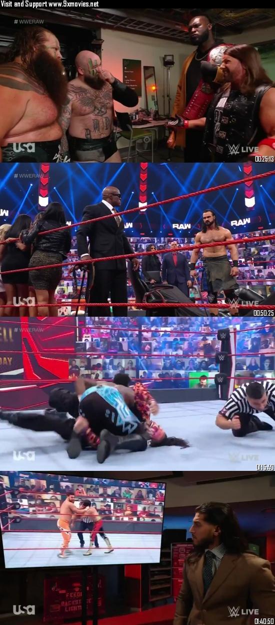 WWE Monday Night Raw 07 June 2021 HDTV 720p 480p 500MB
