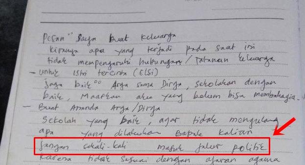 Viral Kades Bunuh Diri Tulis Pesan: Lebih Baik Berdosa Satu Kali Lagi daripada Setiap Hari Terpaksa Bohong