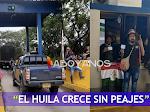 """""""Todo vehículo pasa gratis"""" Minga indígena nuevamente se toma el peaje Los Cauchos en el Huila"""