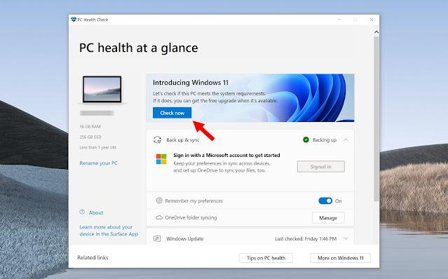 Cara Semak Adakah Komputer Anda Sokong Windows 11