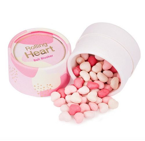 Rolling Heart Ball Blusher #1 Pink Meringue