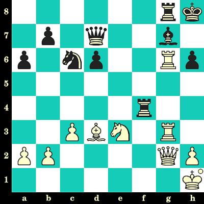 Les Blancs jouent et matent en 2 coups - Vlastimil Hort vs Juan Minaya, Tel Aviv, 1964