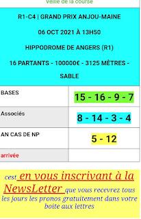 Pronostic quinté+ pmu Mercredi Paris-Turf TV-100 % 06/10/2021