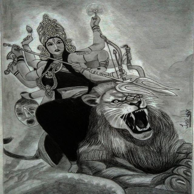 Durga Maa Sketch