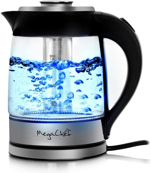 Megachef Electric Light Up Wired Tea Kettle