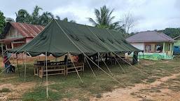 Gedung SD Direhab, Satgas TMMD Dirikan Tenda Belajar Sementara