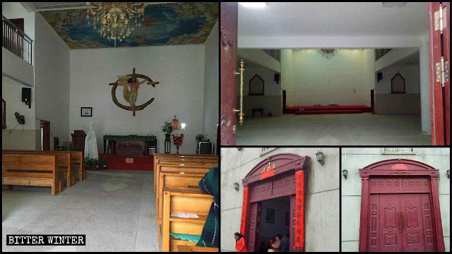 Igreja de  Xiahuang esvaziada