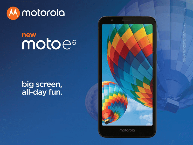 Motorola Moto E6 with Snapdragon 435 announced