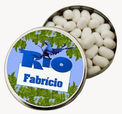 Rio, Toppers or Free Printable Candy Bar Labels.