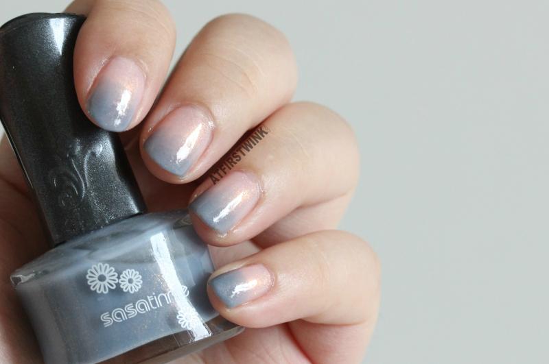 Canmake colorful nails nail polish no. 43 and Sasatinnie nail polish FCW034