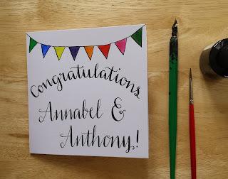 Congratulations card :: www.AliceDrawsTheLine.co.uk