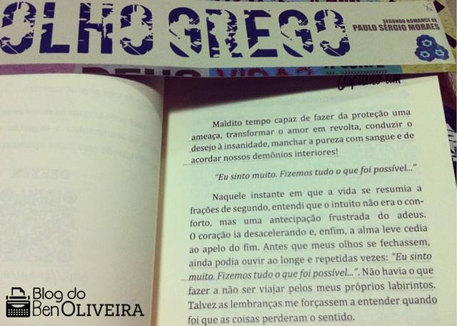 Trecho Livro Olho Grego Paulo Sérgio Moras Literatura Brasileira