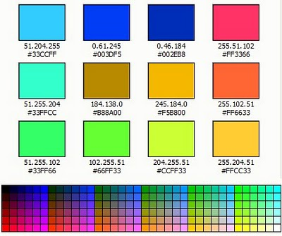 Kumpulan kode warna HTML
