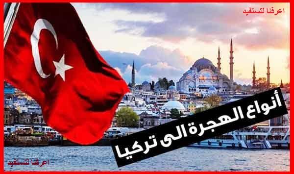 أنواع الهجرة إلى تركيا