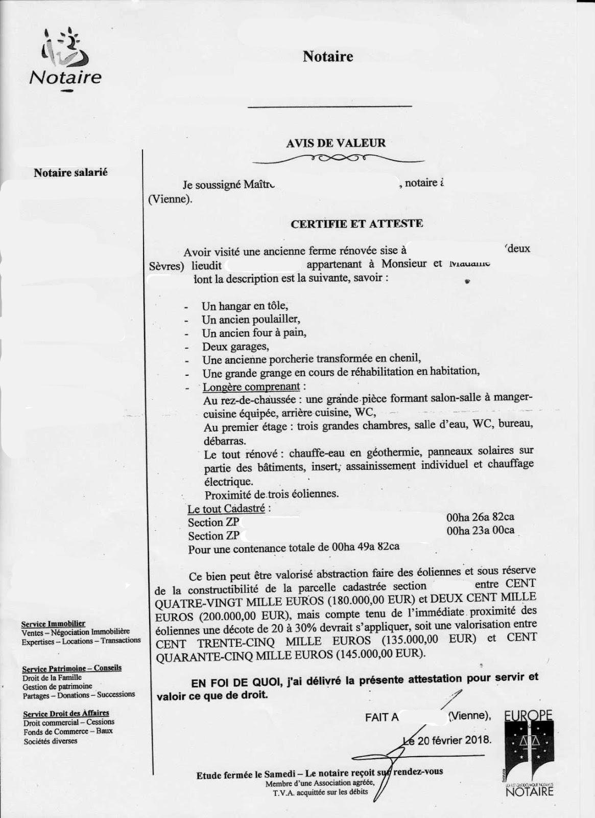 Vents Et Territoires Eolien Et Immobilier Courrier D Un Notaire