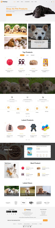 Petshop eCommerce Premium Shopify Template